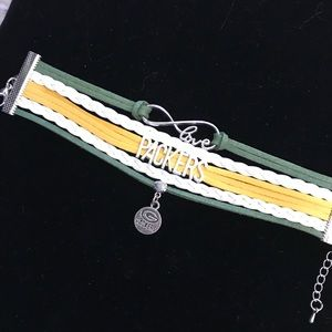 Jewelry - 🔥SALE🔥 NFL Leather Charm Bracelet - Packers NWOT